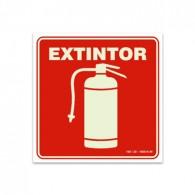 Placa Indicativa para Extintores 23x23