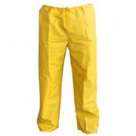 Calça PVC Forrado Amarela 0,30mm ´G´