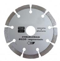 Disco Diamantado 110 mm Segmentado Economico