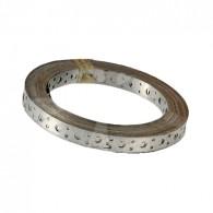Fita de Aço Perfurada 17mm x 0,45mm x 25m