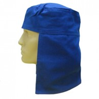 Touca Arabe Brim p/ Soldador Azul Escuro