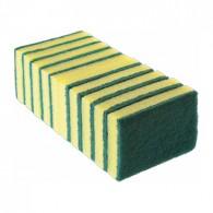 Esponja Dupla Face Verde/Amarela 10x7x2cm